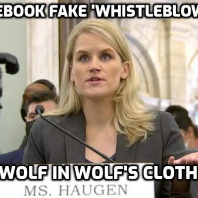 Facebook fake 'whistleblower' Frances Haugen's sprawling PR and legal network coordinating her public campaign for Internet censorship is the billionaire founder of eBay, Pierre Omidyar. Well, blow me down with a feather and I shall swoon
