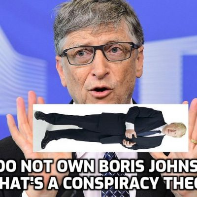Johnson invites his master Bill Gates to dinner