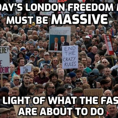 We are now looking the dragon in the eye People - and we must gather in vast numbers in London at the freedom march on October 30th. United we stand against national and global fascism
