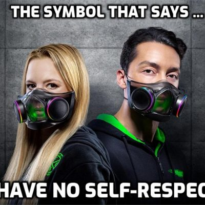 Razer's new Zephyr 'smart mask' is a vision of a Klaus Schwab future - what they will insist everyone wears in the Brave New Normal. However, your self-respect must be deleted or willingly handed over for this to happen