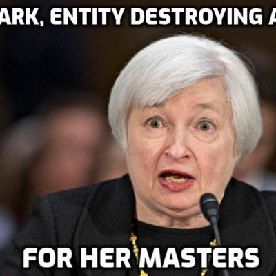 Cult-owned Treasury Secretary Janet Yellen 'the reptile that once ran the Federal Reserve' overseeing the calculated and systematic destruction of the American economy as inflation runs rampant